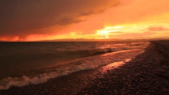 Thumbnail for Beautiful Sunset on a Tropical Sandy Beach