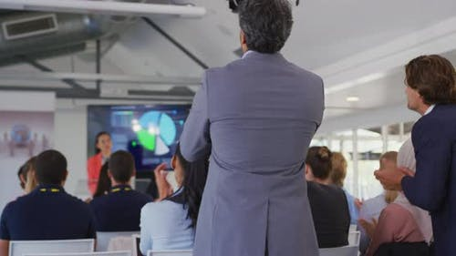 Standing ovation at a buisness presentation