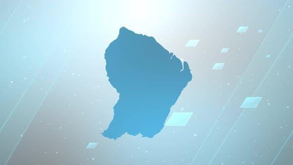Französisch-Guayana-Schieber-Hintergrund