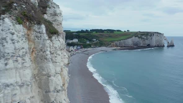 Cliff Rocks Close Up of Slide Revealing Etretat Cliffs in France