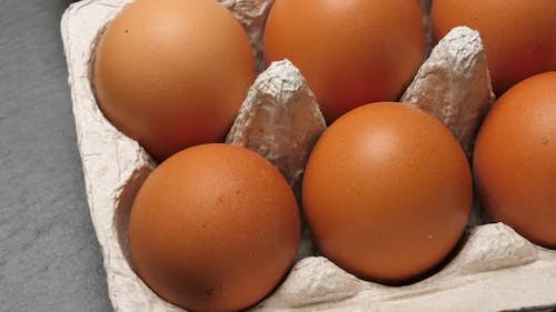 Uncooked Eggs in Pack