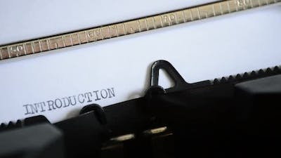 Typing the Word INTRODUCTION