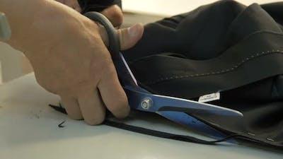 Cutting a black material