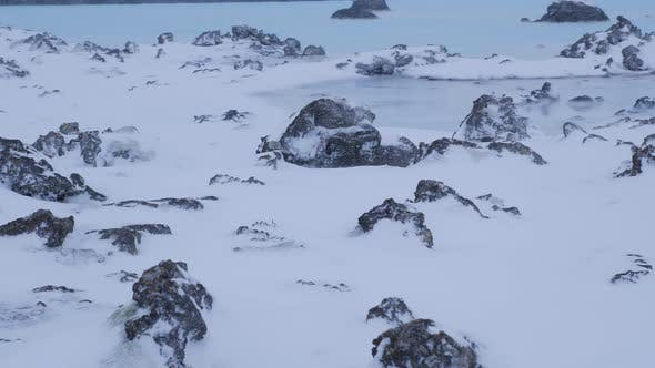 Thumbnail for Iceland Snow Covered Lava Field In Winter With Sulfur Pool 2