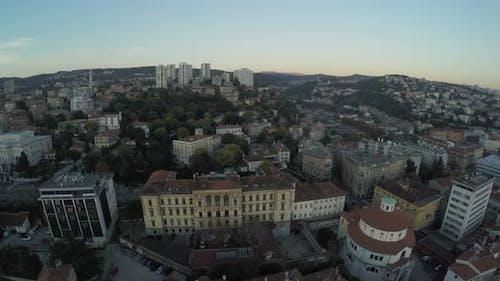 Aerial view of the Municipal Court in Rijeka