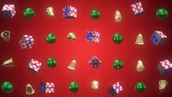 Thumbnail for Christmas Decoration 3D Background 01