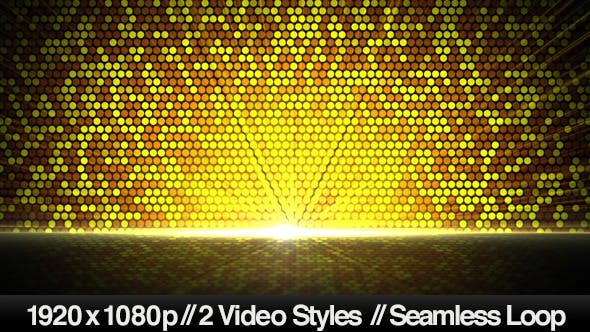 Thumbnail for Bright Golden Circles Reflected Below Background