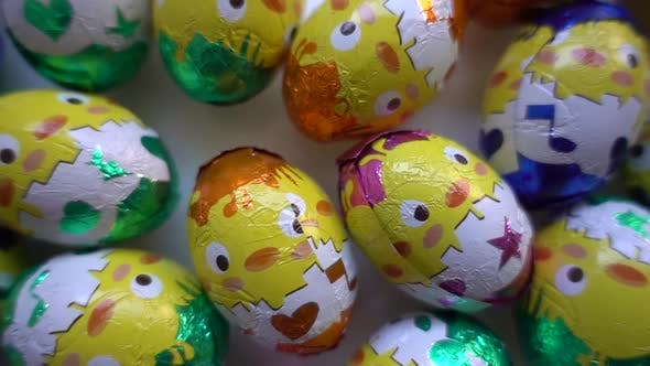 Thumbnail for Chocolate Easter Eggs Background