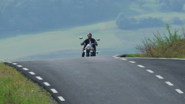 Thumbnail for Riding a motorcycle on a cloudy day