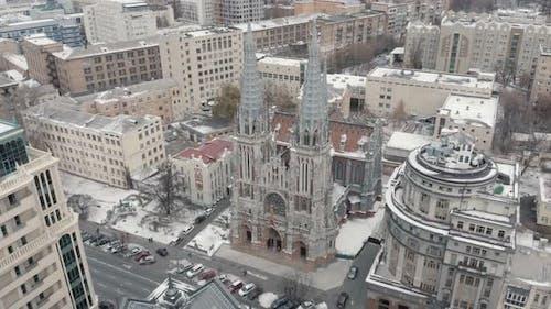 Gothic Revival Church in Kiev
