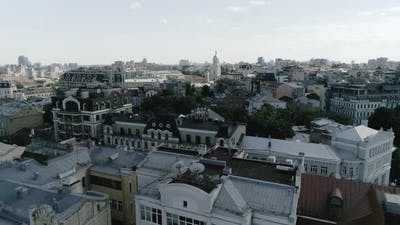 Panorama of the historical district of Kyiv - Podil.