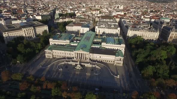Aerial of the Austrian Parliament Building