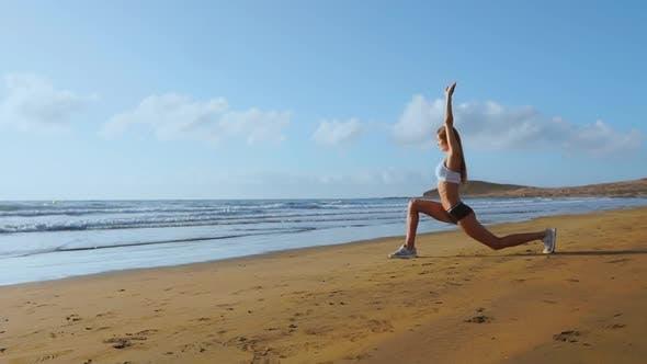 Thumbnail for Woman Doing Leg Stretches