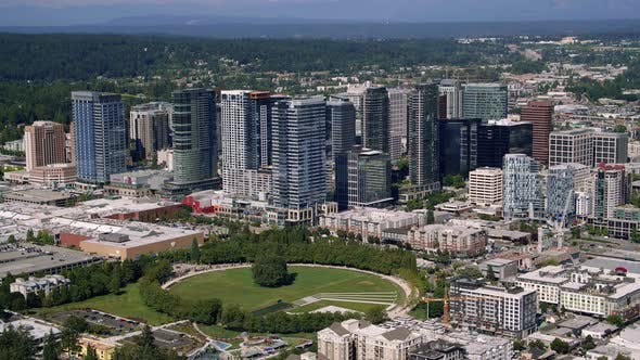 Thumbnail for Downtown Bellevue City Park And Skyline Aerial