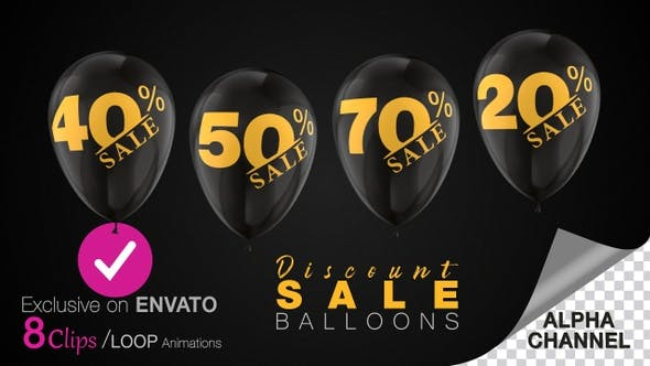 Sales Discount Balloons