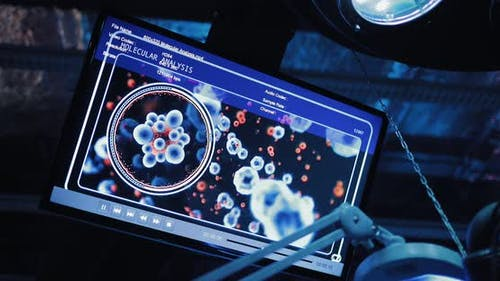 Screen for Monitoring the Body Cells Display with Molecules