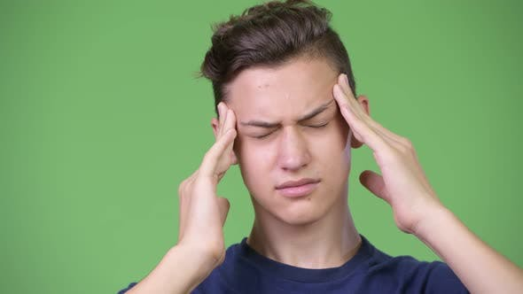 Thumbnail for Young Handsome Teenage Boy Having Headache