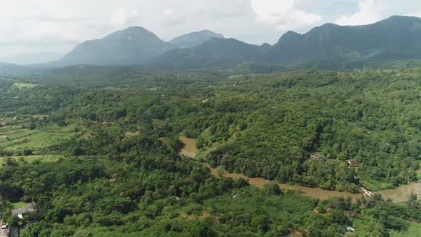 Thumbnail for Flyover A Tropical River In The Knuckle Mountains