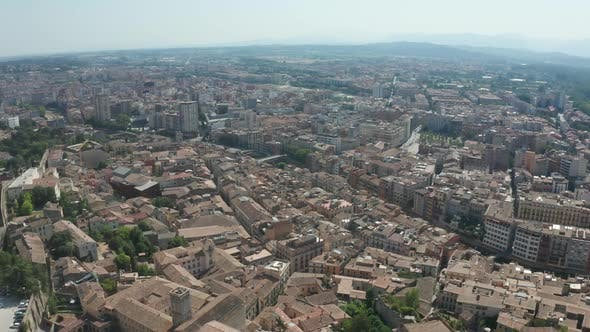 Thumbnail for Drone Flight Over Roofs of Buildings in Girona