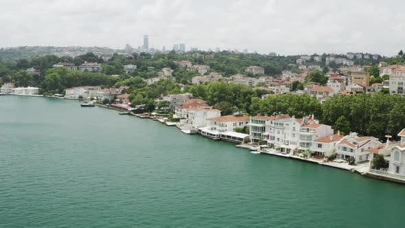 Thumbnail for Istanbul Bosphorus And Waterside House Aerial View