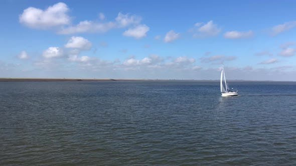 Thumbnail for Sailing at the Wadden Sea in Friesland