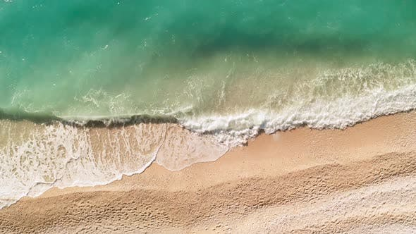 Thumbnail for Beautiful Beach in Kefalonia, Ionian Islands, Greece. Aerial View