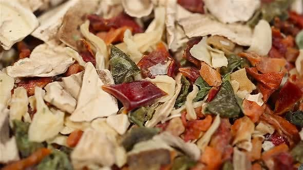 Thumbnail for Various Spices Lying on Kitchen Table, Organic Herbs, Cooking. Extreme Close-Up