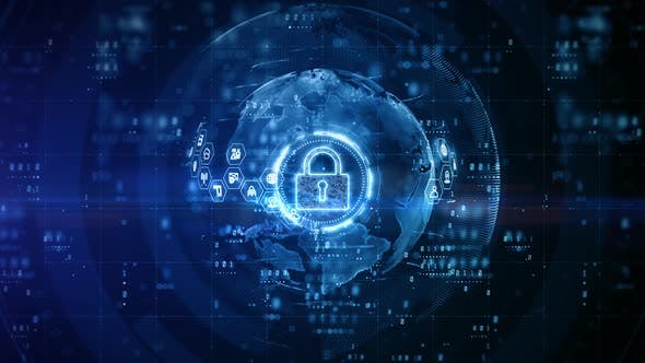 Padlock Of Cyber Security 00963