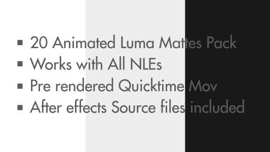 Thumbnail for Animated Square Luma Mattes Bundle
