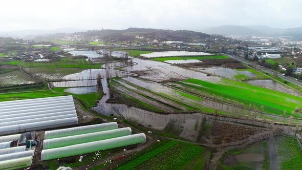 Flood Agriculture Fields
