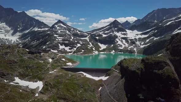 Thumbnail for Aerial View of Weissee Glacier Lake, Austria