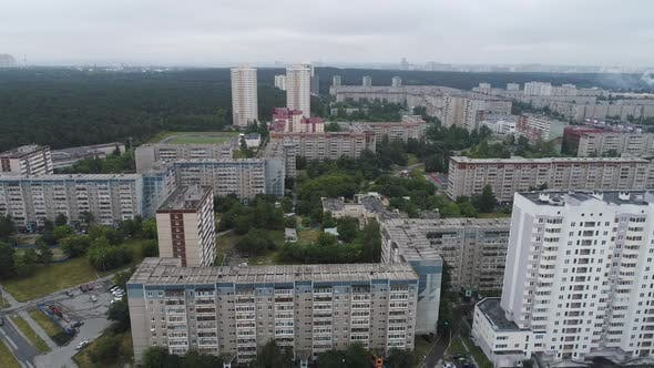 Old Soviet Russian high-rise houses 02