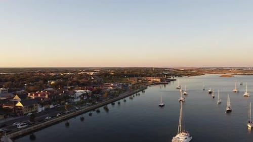St Augustine Florida Aerial 4k Video