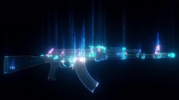 Thumbnail for Ak 103 Assault Rifle Hud Hologram V2 4k