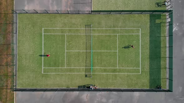Thumbnail for People Playing Tennis