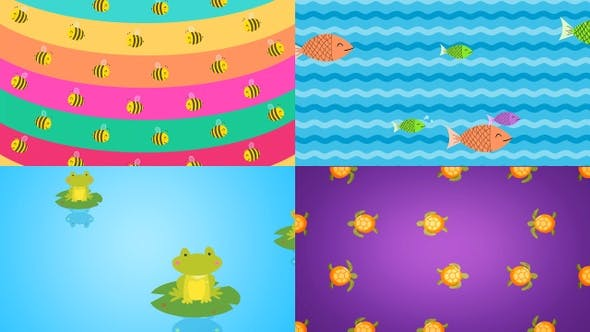 Thumbnail for Cute Animal Pattern Backgrounds