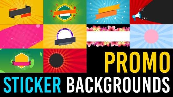 Promo Sticker Backgrounds