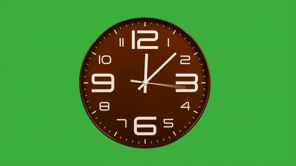 Thumbnail for Modern Orange Clock Face Moving Fast Forward