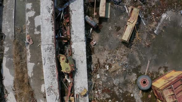 Thumbnail for Drone Flight Over Rusty Scrap Dump in Chernobyl