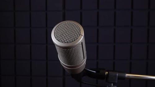 Vokalmikrofon im Studio