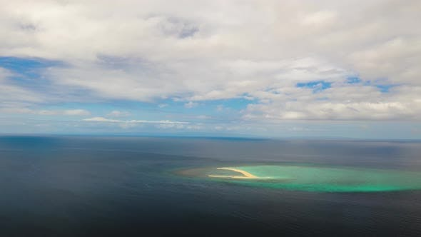 Thumbnail for Tropical Island with Sandy Beach, Time Lapse. Camiguin, Philippines