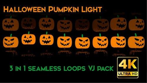 Halloween Kürbis Licht VJ Schleifen