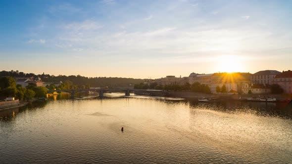 Thumbnail for Sunrise from Charles Bridge in Prague
