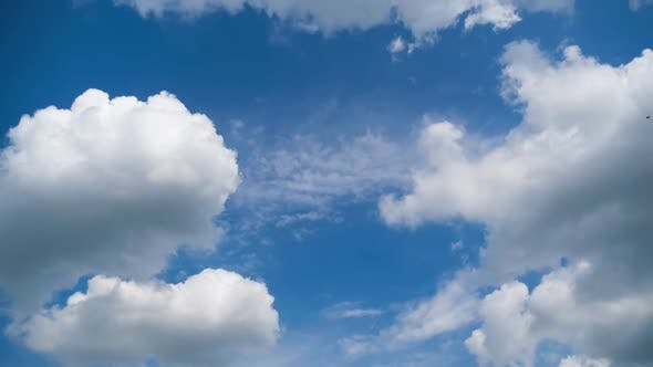 Thumbnail for Clouds Move Smoothly in the Blue Sky. Timelapse
