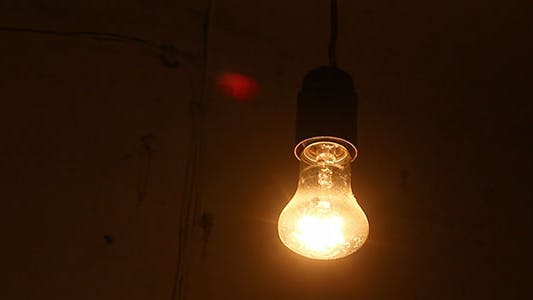 Thumbnail for Turning On And Off Swinging Light Bulb