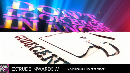 Extrude Inwards - for Logos and Texts