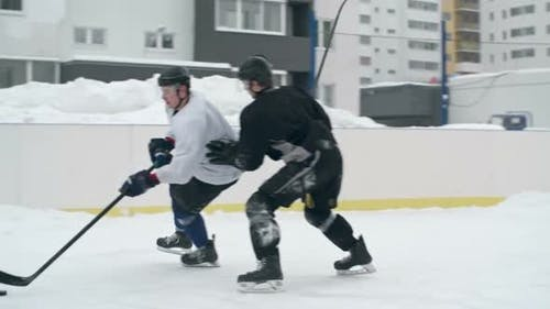 Competing for a Puck