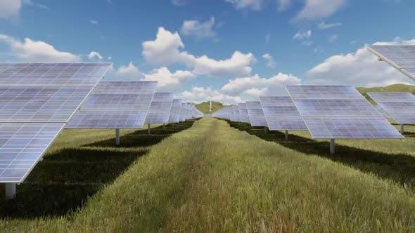 Passing Through Solar Panel