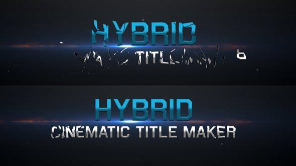 Thumbnail for Hybrid - Cinematic Title Maker
