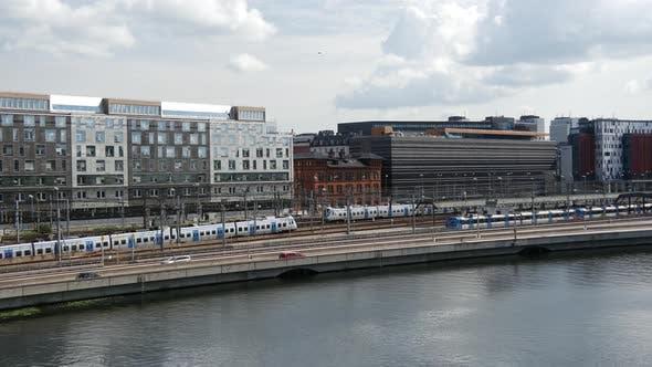 Thumbnail for Train arriving at Stockholm Central Station in Sweden